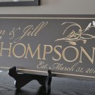 Personalized Home Sign for Weddings or House Warming 6 x 16 inches