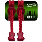 No Tie Golf Shoe Laces  (red)