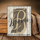 Personalized Rustic State Shape Sign