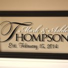 The REGAL Personalized Glass Sign.. 8 x 18