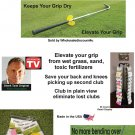 Grip Dry: Keep Irons & Putter Grips OFF Wet Ground