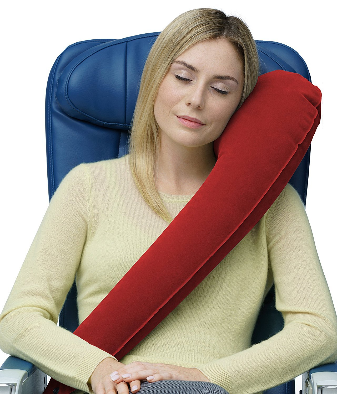 Travel Rest Travel Pillow :  RED