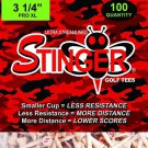 Stinger Golf Tees :  100 tee Bag (1)    3.25 inch PRO XL
