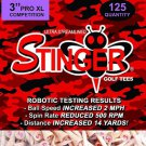 Stinger Golf Tees :  125 tee Bag (1)    3.0 Inch PRO XL Competition..Best Wooden Tees On Earth!!