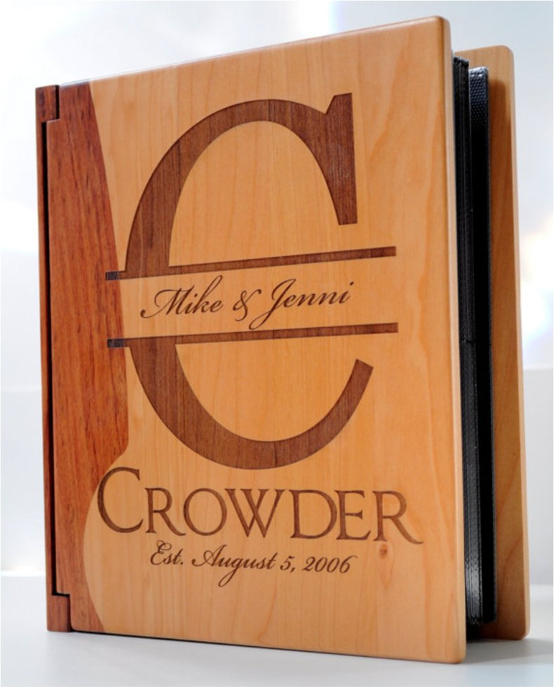 Maple and Rosewood Personalized Photo Album