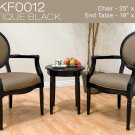 KF0012 (3 Pcs Traditional Accent Chair Set)