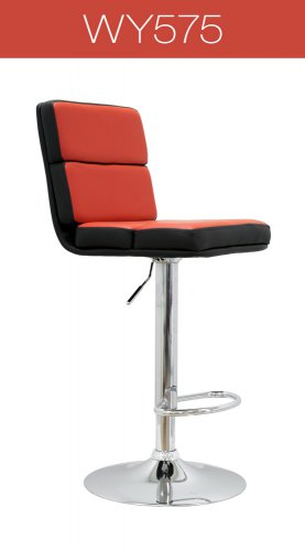 Hollywood Modern Bar Stool - (Red/ Black)