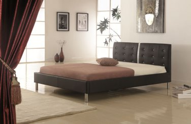 Black Modern (Queen) Size Platform Bed (120518)
