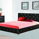 Studio Fix Platform Bed (Black - Cal King) with Crystal Studs