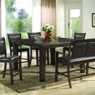 2204 - 6 Pcs Counter Height Set with Table Extension (Dark Walnut)