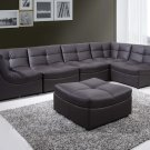 9148 - 6 Pcs (Brown) Cloud Modular Sectional w/ Ottoman