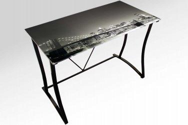 UCD4007 - Brooklyn Bridge Glass Writing Desk