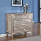 T1810 - Palais Tv Stand (3 Drawer Chest) Bronze Champagne w/ Mirrored Top