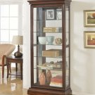CU102- Sedona Traditional (Cherry) Sedona Wood w/Glass Curio