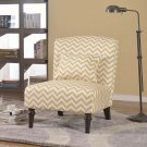 3017- Costa Calma Decorative Fabric Accent Chair Tan/White