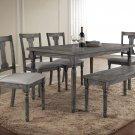 Demi – 6 Pcs Rustic Dining Table Set