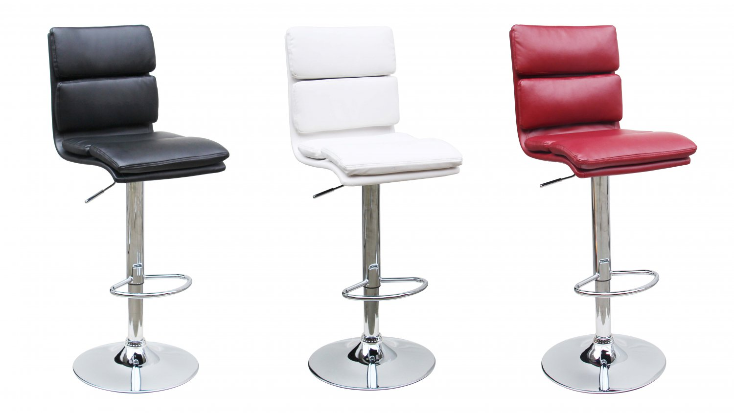 D279 Modern Adjustable Faux Leather Swivel Bar Stool 3
