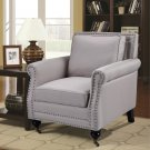 ZH116 – Taupe Downtown Abby Living Room Arm Accent Chair