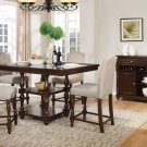 D1881 – 5 Pcs Mc Gregor Counter Walnut Dining Room Set