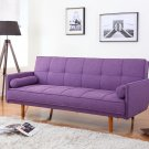 Item: L33303 Mid Century Convertible Sofa Bed Futon (Purple)