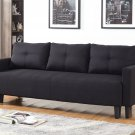 Item: L33306 Charlotte Functional Convertible Sofa Bed Futon (Black)