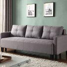 Item: L33306 Charlotte Functional Convertible Sofa Bed Futon (Gray)