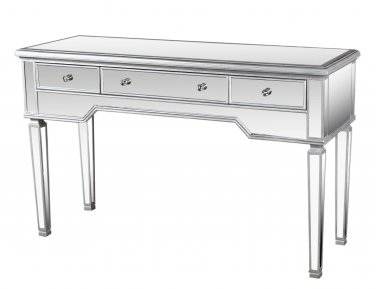 FRA2011 - Console Mirrored Table w/ 3 Drawers