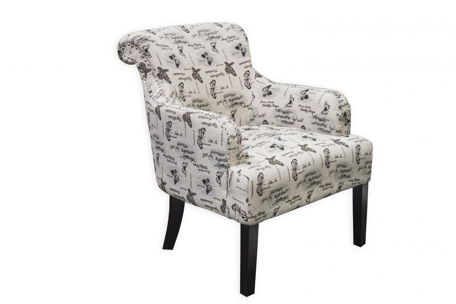 587 Sandy Ivory With Gray Living Room Accent Chair
