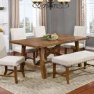 YU201 – Yosemite Honey Walnut 6 Pcs Dining Room Set