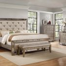 B1980 – Ava Mirrored Silver Bronzed 5 Pcs Bedroom Collection ( Queen Size)
