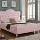 YY15073 – Prague Platform Tufted Look with Crystal Like Studs Bed ( Pink Queen)