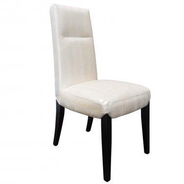 521 � Elizabeth 2 Pcs Crocodile Dining Side Chairs (Pearl/ Gold)