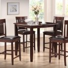 1103 – 5 Pcs Espresso Counter Height Dinette Set