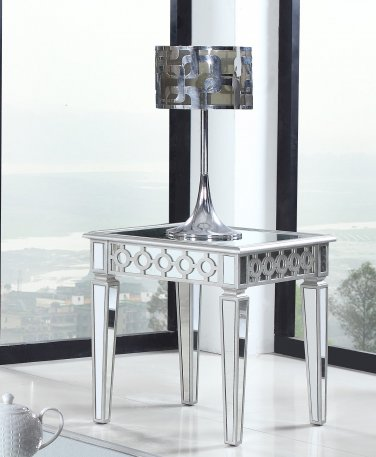 T1840 � Sophie Silver Mirrored Living Room End Table