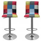 HY6052 – Roxanne 2 Pcs Adjustable Swivel Bar Stool (Album Color)