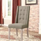 599 East Hampton Dining Side Chairs with High Back and Nail Heads (Taupe)