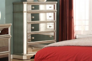 T1830 � Borghese Mirrored 5 Drawer Chest