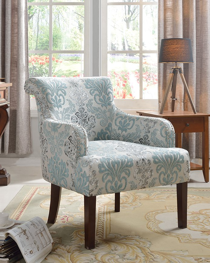 589 teal light blue living room accent arm chair. Black Bedroom Furniture Sets. Home Design Ideas