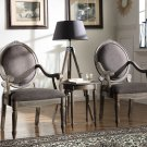 KF0025 – Khloe 3 Pcs Living Room Accent Arm Chair Set (Antique Gray)