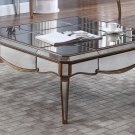 FRA2018 – Contemporary Mirrored with Gold Trimmings Living Room Sqaure Coffee Table
