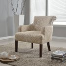 588 – Transitional Taupe/ Khaki Living Room Arm Accent Chair