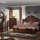 B1003 – Barney's Traditional Walnut with Marble Panel Bedroom Set (California King)