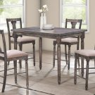 Demi 5 Pcs Rustic Smoked Grey Counter Height Set