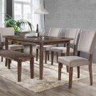 Mindy – 6 Pcs Transitional Antique Natural Oak Dining Room Set