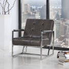 Y226 – Cunningham Living Room/ Office Chrome Arm Chair (Brown)