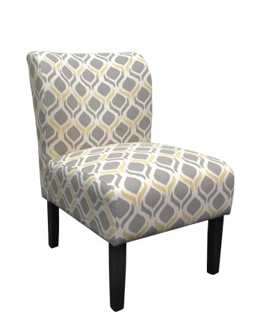 5083 � Retro Beige Armless Living Room Accent Chair