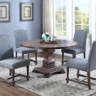 M084 – Mannsville 5 Pcs Rustic Wood Dining Set (Eton Blue)