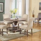 M084 – Mannsville 5 Pcs Rustic Wood Dining Set (Tan)