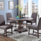 M084 – Mannsville 5 Pcs Rustic Wood Dining Set (Otter)