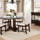 D1971 – Dakota 5 Pcs Round Cherry Dining Set